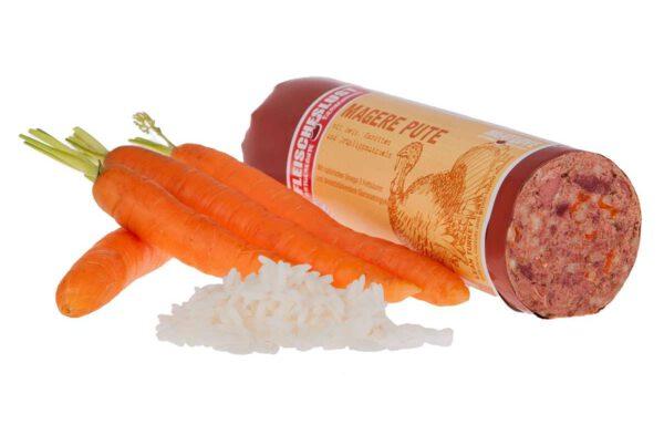Fleischeslust Magere Pute mit Reis, Karotten und Grünlippmuscheln