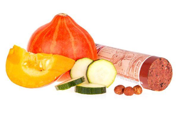 Fleischeslust Rindermenü mit Zucchini, Haselnuss und Kürbiskernen
