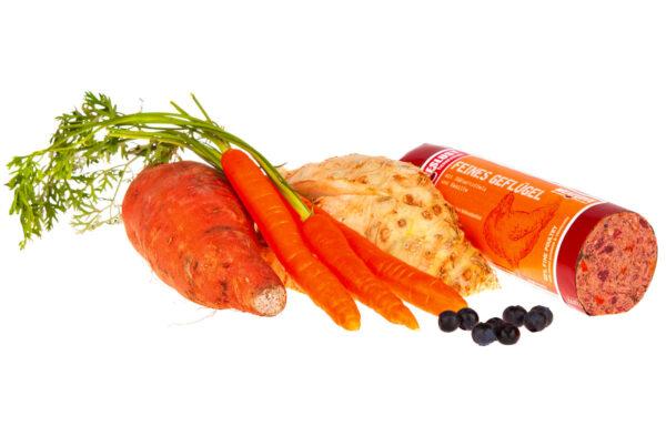 Fleischeslust Feines Geflügel mit Süßkartoffeln und Kamille